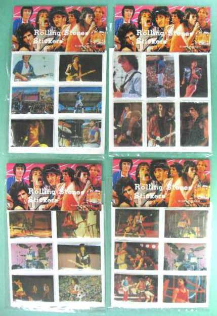 ROLLING STONES 1983 Set of 24 Puffy Stickers - 4 Sealed Packages near MINT