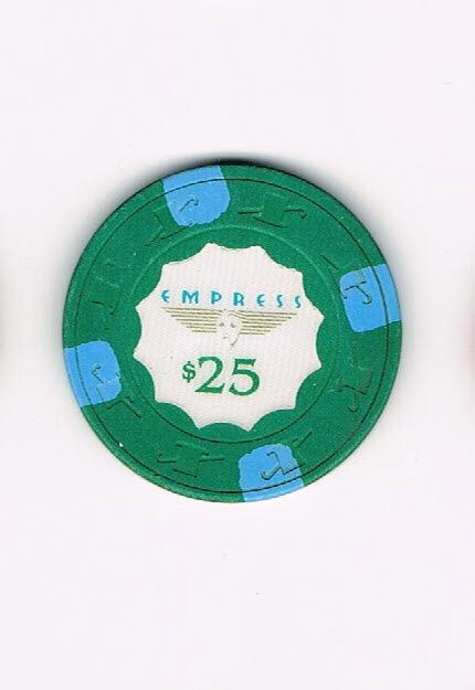 Empress $25 Casino Chip (with Blue Stripes)