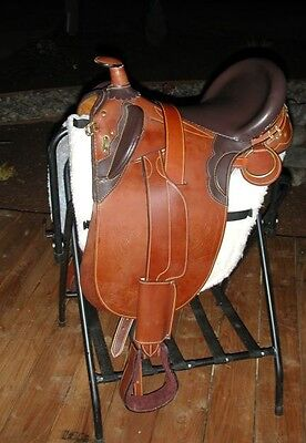 """TRUE Draft Horse 20"""" Australian saddle BROWN with 10"""" wide gullet"""