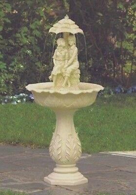 Immature Couple Water Fountain Outdoor Garden Yard Decor - New