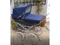 Silver Cross Kensington Heritage Navy Blue Pram