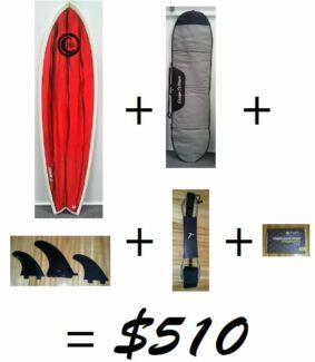 Surf board beginner package FISH surfboard Clarkson Wanneroo Area Preview