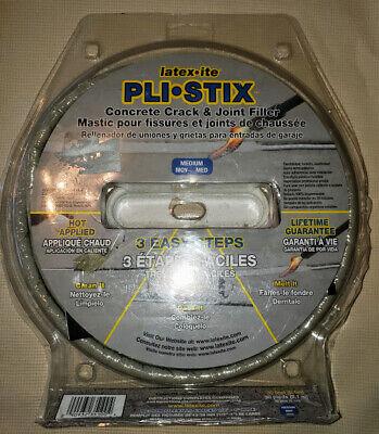 Pli-Stix Driveway Crack/Joint Filler, Gray, 30-Ft. * Free Shipping * Brand -