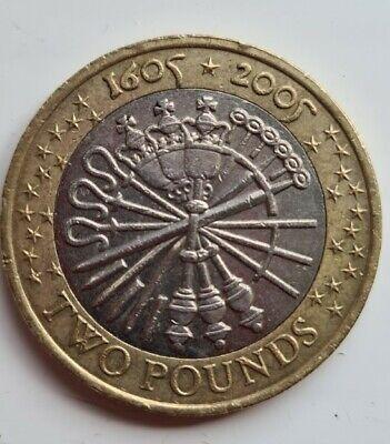 £2 Guy Fawkes Gunpowder Plot 1605 -  2005 - Two Pound Coin Hunt