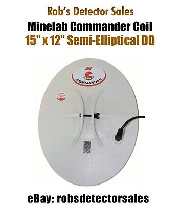 "Minelab Commander Search Coil - 15"" x 12"" Semi-Elliptical DD for Minelab"
