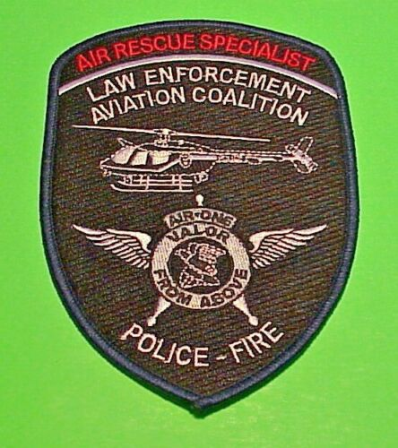AIR RESCUE SPECIALIST LAW ENFORCEMENT AVIATION  AIR RESCUE  POLICE PATCH