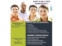 Cisco CCNA Certification CCNA course +interview +CV preparation for 1st line ,2nd line support