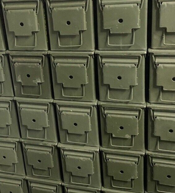 Pack of 3 Genuine US Military surplus ammo cans. M2A1 .50 cal.