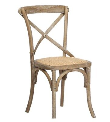 CROSS BACK DINING CHAIR - Solid oak Natural Oak Finish - Cafe, Bistro, Weddings