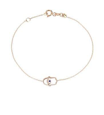 Kismet By Milka Hamsa Sapphire Bracelet