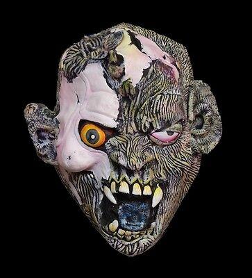 Mens Demon WOLF SKULL FACE Latex Mask Adult Teen Halloween Costume Accessory (Demon Wolves Halloween)