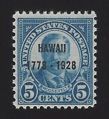 US #648 1928 Dark Blue Perf 11x10.5 Unwmk MNH F-VF SCV $21.50
