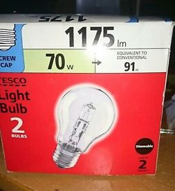 Two tesco screw tap bulbs New
