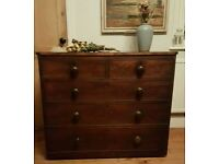 Victorian chest of drawers ( free local delivery)