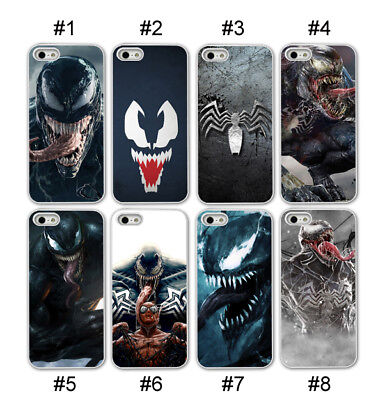 Venom Spiderman Marvel Phone case for iPhone XR XS 11 7 8 Plus Hard/Soft Black