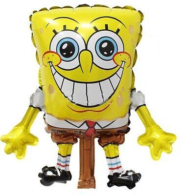 Sponge-Bob Birthday Party balloon handheld Foil (5ct) favors - Sponge Bob Birthday