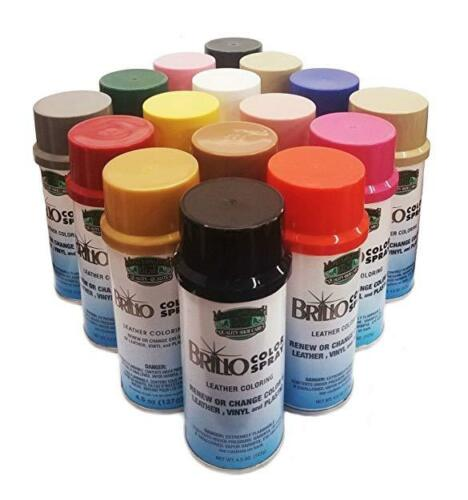 BRILLO Color Spray Nu-Life Leather/Vinyl/Plastic Renew 4.5 oz ALL COLORS
