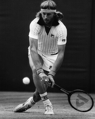 Pro Tennis Player BJORN BORG Glossy 8x10 Photo Poster Print 11 Grand Slam Titles