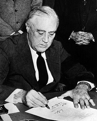 1941 President FRANKLIN D ROOSEVELT FDR Glossy 8x10 Photo Declaration of War