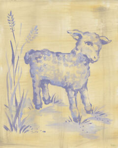 Toile Lamb by Oopsy daisy