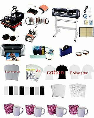 28 Plotter 8in1 15x15pro Sublimation Heat Press Epson C88 Ciss Material Kit