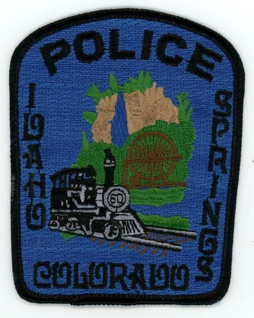 IDAHO SPRINGS COLORADO CO POLICE COLORFUL PATCH STYLE #2 SHERIFF