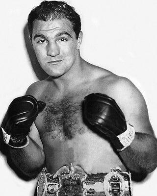 Heavyweight Boxer ROCKY MARCIANO Glossy 8x10 Photo Champion Boxing Poster Print