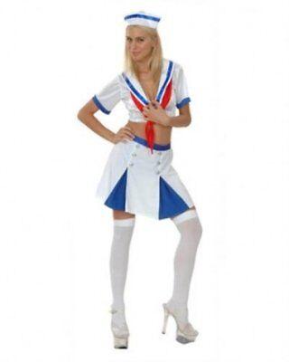 Sexy Matrose Damen Schicke Verkleidung Kostüm Hut Rock Top Erwachsenen Größe