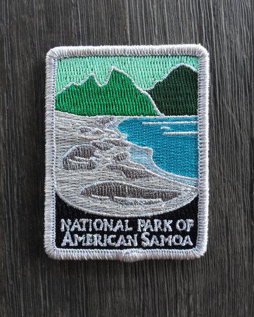 National Park of American Samoa Souvenir Patch Traveler Series Iron-on