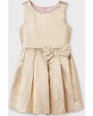 Girls' Jacquard A Line Dress - Cat & Jack Gold L 10/12 NWT](Gold Girl Dress)