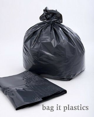 200 HEAVY DUTY BLACK REFUSE WASTE RUBBISH SACKS 20
