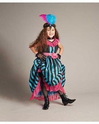 $94 NWT GIRLS CHASING FIREFLIES CAN CAN DANCER COSTUME & HEADPIECE SIZE 8 - Can Can Costume