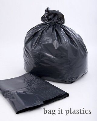 100 HEAVY DUTY BLACK REFUSE WASTE RUBBISH SACKS 20