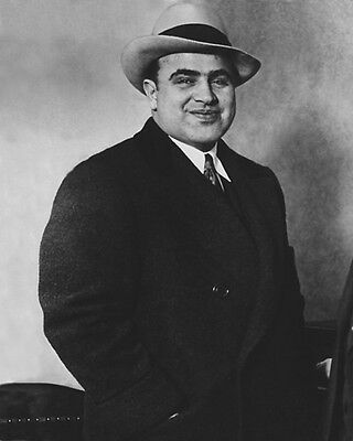 1930 American Gangster  Mobster Al Capone Glossy 8X10 Photo Criminal Mob Print