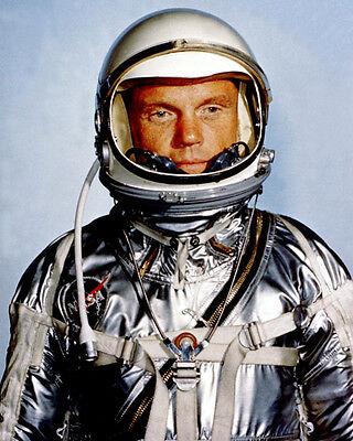 1962 Space Astronaut JOHN GLENN Glossy 8x10 Photo Poster Mercury Suit Print NASA