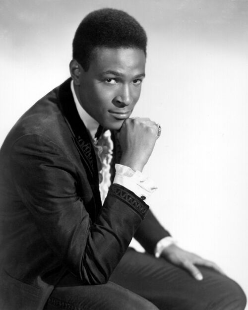 American Soul Singer MARVIN GAYE Glossy 8x10 Photo Musical Motown Print Portrait