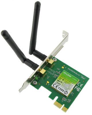 300Mbit/s WLAN PCIe Wireless LAN Netzwerkkarte mit 2 Antennen, Atheros® Chipsatz