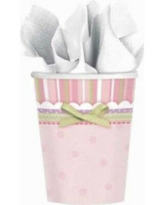 Carter's Baby Girl Pink Green Baby Shower Birthday Party 8 Count 9 oz Cups New