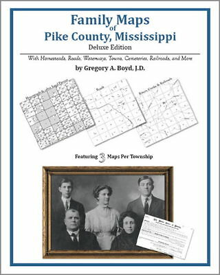 4e4a18a3a285c1 Family Maps Pike County Mississippi Genealogy MS Plat