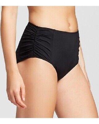 Mossimo Bikini Swimsuit - Women's Mossimo Swimwear Black High Waist Bikini Bottoms Swimsuit Size Medium
