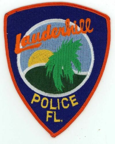 LAUDERHILL POLICE FLORIDA FL POLICE NICE NEW COLORFUL PATCH SHERIFF