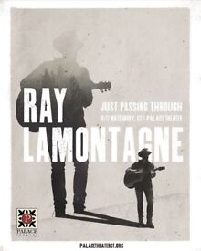 Ray Lamontagne Eventim Apollo 16/05/18 Two Tickets ROW Y Stalls Seated