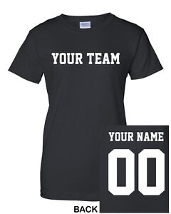 CUSTOM Women's T-Shirt Jersey ANY COLOR Personalized Name,Number,Team Football