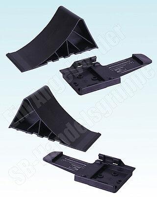 2x Stück Unterlegkeile + Halter schwarz bis 1600kg Hemmschuhe & Halterung