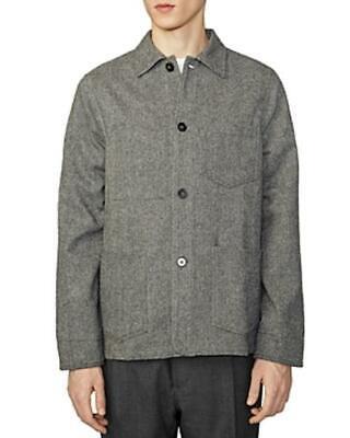 Officine Generale Herringbone Jacket (Grey, 50)