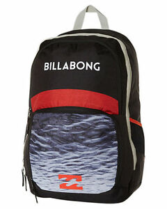 BRAND NEW + TAG BILLABONG 'STRIKE THRU' BLACK LARGE BACKPACK SCHOOL UNI BAG 36L