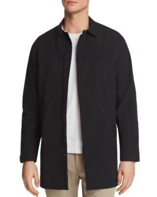 NWT Men's DESCENTE ALLTERRAIN Schematech Stretch Trench Coat, Medium, Black