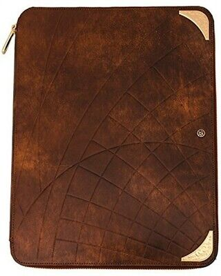 S.T. Dupont Conference Pad Shoot The Moon Brown Leather and Yellow Gold 181031