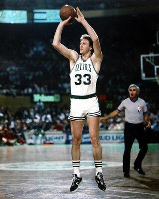 Boston Celtics LARRY BIRD Glossy 8x10 Photo NBA Basketball Print Shooting Poster