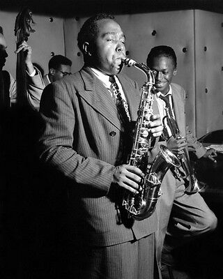 Jazz Musician CHARLIE PARKER Glossy 8x10 Photo Saxophonist Glossy Print Poster